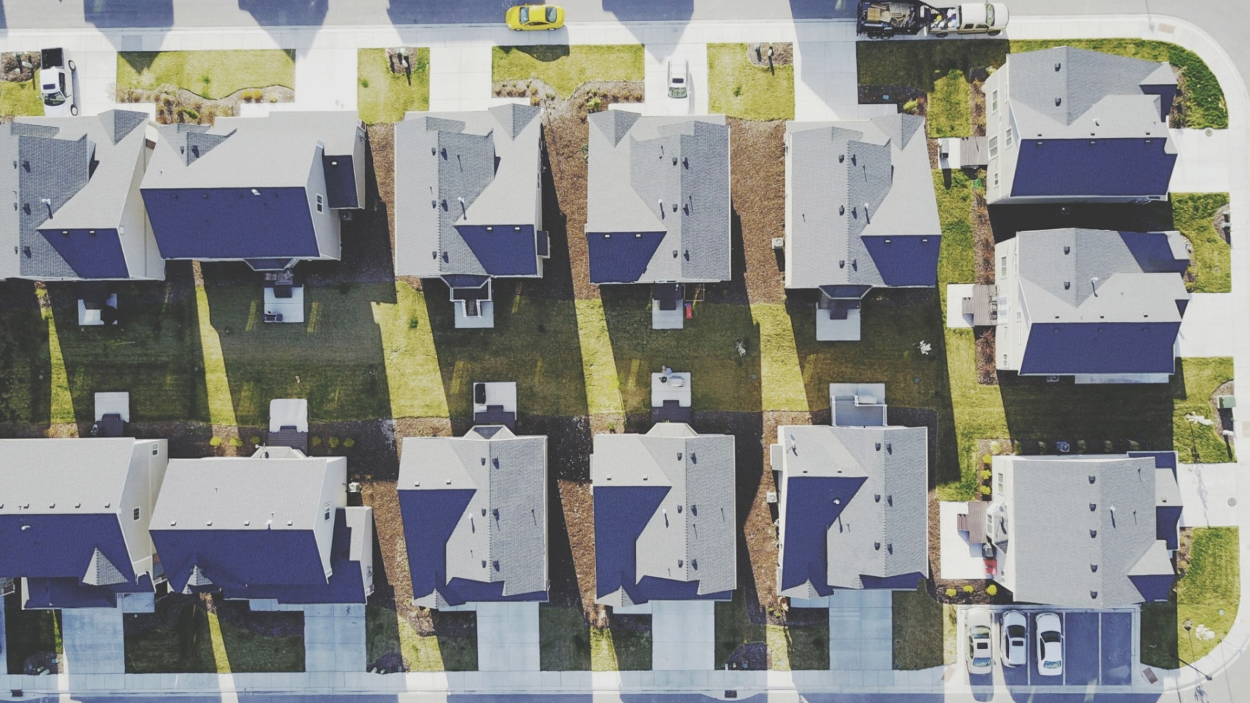 Drone image of houses