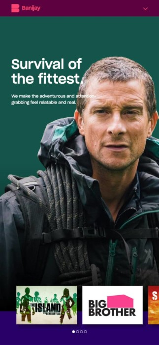 Banijay shows page Bear Grylls
